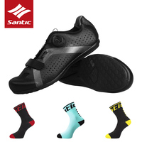 SANTIC Cycling Bike Bicycle Shoes Sneaker Breathable Outdoor Sport Professional Road Bicycle Shoes Non Slip No Lock Equipment