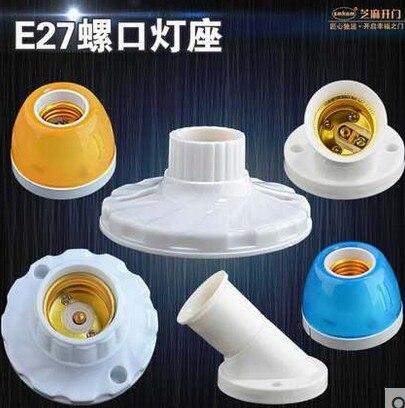 e27 Screw Lamp Base Lamp Holder LED Bulb Holder Light Socket e27 Socket Lamp Base E27 Cartridge Lighting Accessories Douille e27