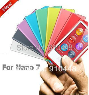 Free shipping High Quality Candy Color Soft TPU Silicone Case for Apple iPod Nano 7 with Retail package screen protector ...