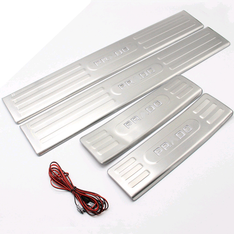 Accessories For Toyota Prado FJ150 FJ 150 2010-2016 Led Light Door Sill Scuff Plate & Online Get Cheap Tread Plate Steel -Aliexpress.com | Alibaba Group Pezcame.Com