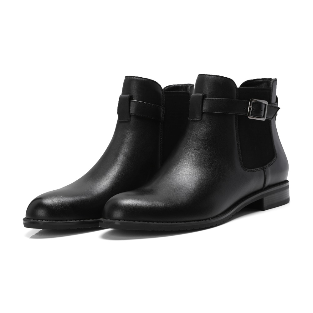 Black 2018 Sur Plat Glissement Hiver La Boucle Cuir Chelsea Printemps Furtado Cheville Dames Véritable black Mode Automne Leather Suede Arden Bottes Matin 5WnqUA7