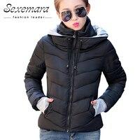 2016 Women Jacket 9 Color Large Size Female Down Coat Short Slim Hoodie Autumn Zipper Stand