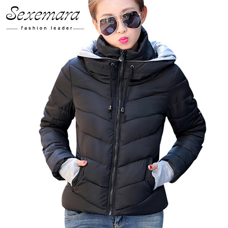 2017 Women Basic Down Top font b Jacket b font Plus Size Female Coat Slim Autumn