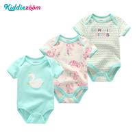 2018 Fashion Newborn Baby Clothes Set Baby   Rompers   Overall Short Sleeve O-Neck 0-12M Similar Style   Rompers   Roupas de bebe Infant