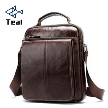 купить 100% genuine leather men shoulder bag crossbody bags for men high quality bolsas fashion messenger bag по цене 1787.89 рублей
