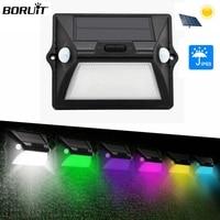 Boruit Waterproof 12 LED Solar Lamps 18650 Lithium Battery Solar Power Motion Sensor Wall Lamp Wireless