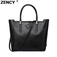 ZENCY Famous Brand Women Tote Bags Female Genuine Leather Bags Woman Real Cow Leather Shoulder Bag