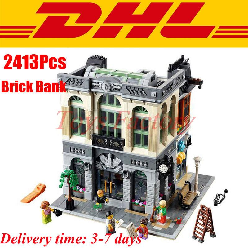 <font><b>DHL</b></font> LEPIN 15001 Clone Creator Brick Bank Minifigures Building Blocks Toys Modular City Series model Kids Gift Compatible 10251
