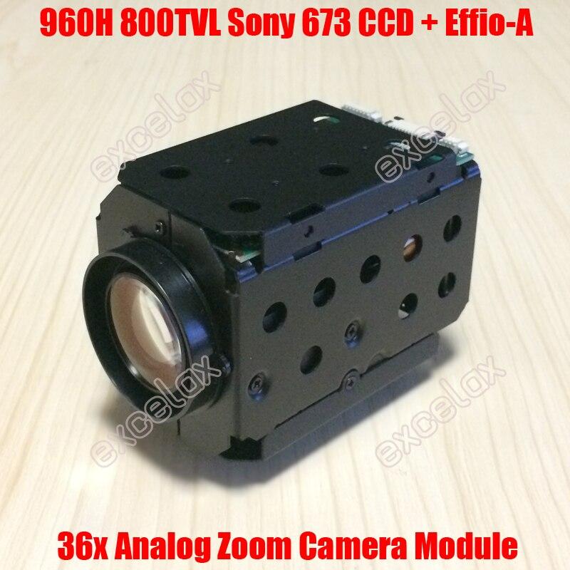 960H D1 800TVL Analog 36x 26x 1 3 Sony 673 672 CCD Effio A 4151 CCTV
