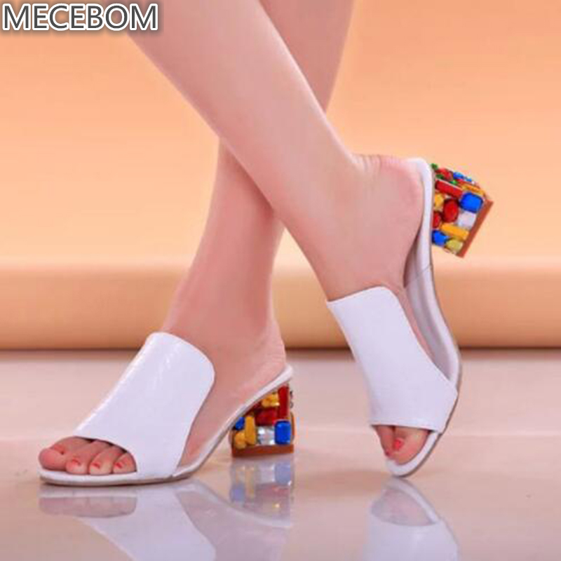 Women Sandals 2018 Ladies Summer Slippers Shoes Women high Heels Sandals Fashion Rhinestone summer shoes new 818W orient gw03006b