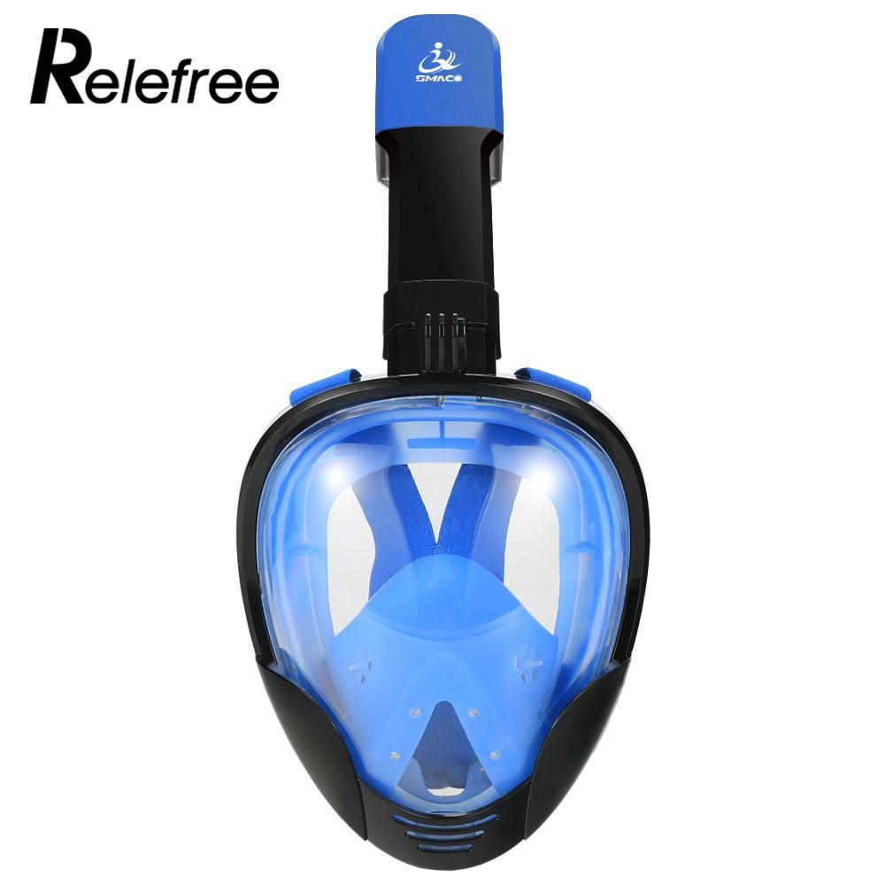 100% Anti-buée unique canal d'échappement tuyau de reniflard de plongée masque de plongée Durable masque sec Submersible masque de plongée