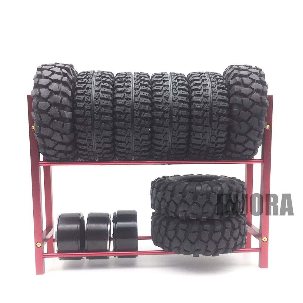 Metal Spare Tires Shelf / Tyre Rack Fit 1.9 Inch Wheel Rim Tires for 1/10 RC Crawler Car Axial SCX10 RC4WD D90 Tamiya CC01 free shipping 78pcs gear set tyre tires special umbrella teeth gears rack car shaft spare parts for diy rc car aircraft models