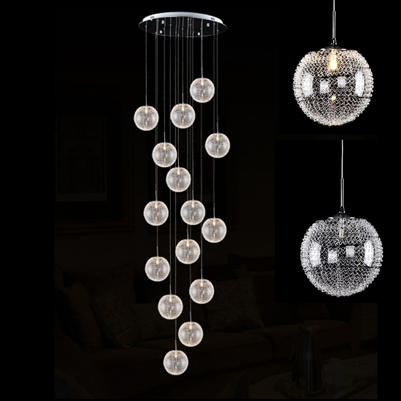 Modern Pendant Light Stairs Pendant Lamps Restaurant Decoration Glass Pendant Lights Glass Lamp Lighting Hanging Lamp Cord light crystal pendant light fashion gold pendant light modern pendant lights bedroom lamp decoration lamps