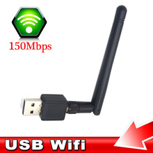 Portab PC WiFi adapter 150M USB WiFi antenna Wireless Computer Network Card 802.11n/g/b LAN+Antenna wi-fi adapters wi fi antenna