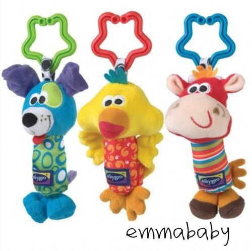 Baby Kids Soft Developmental Toy Animal Handbells Rattles Car Bed Stroller Bells