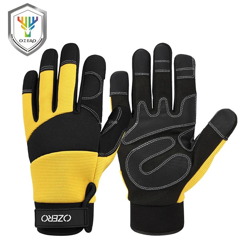 OZERO gants mécaniques en cuir Super Fiber | Gants de Moto en Super Fiber renforcée pour Moto, de Moto, de course de motard, de voiture déquitation, gants de Moto pour hommes 90