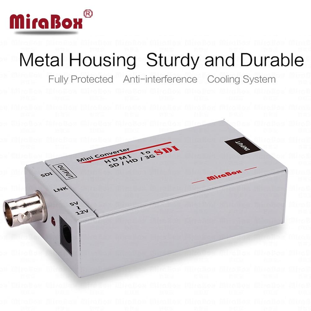 MiraBox Mini 3g HDMI To SDI Converter HSV191 Full HD 1080P Video Converter with Power Adapter HDMI Coaxial SDI Converter carprie full hd 1080p hdmi to sdi sd sdi hd sdi 3g video converter spliter drop shipping