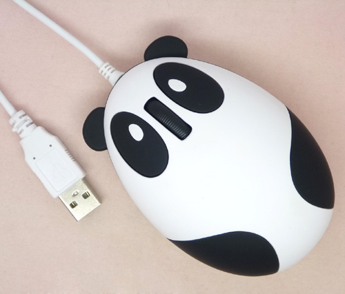 US $5 59 20% OFF|Lovely panda PC USB wired mouse with 1200 DPI for laptop  desktop computer, plug & play, gift box, optical mice-in Mice from Computer