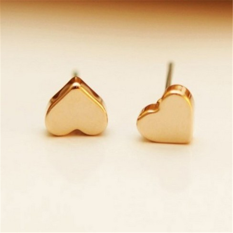 2017 Top Ing Stud Earrings Tiny Heart Shaped Studs For Women Lovely Fashion Earings Whole In From Jewelry Accessories On