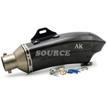 motorcycle Akrapovic muffler pipe scooter exhaust pipe carbon fiber for honda cbr250r cbr300r CB300F cbr500r cb500f