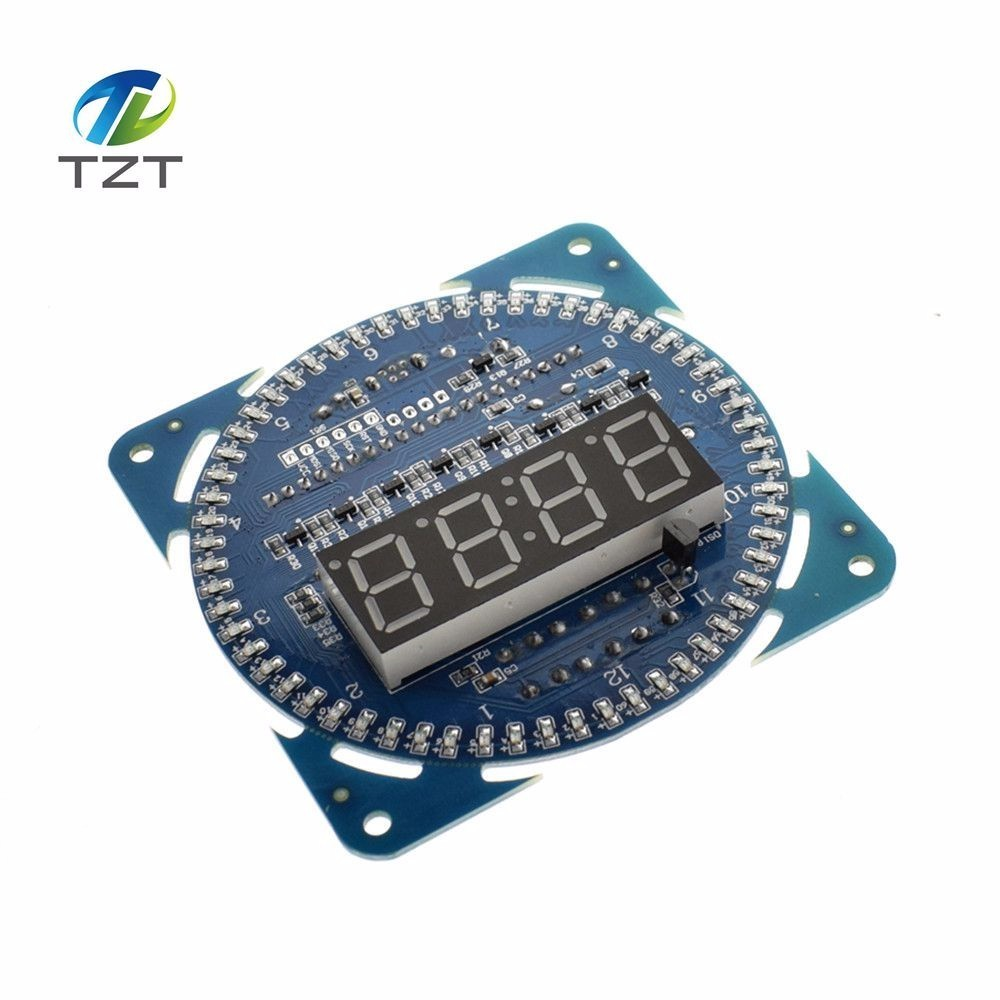 TZT LED Electronic Digital Clock module DS1302 Rotation LED Display 51 SCM Learning Board  - buy with discount