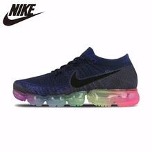 цена на Nike Air VaporMax Be True Flyknit Breathable Original New Arrival Women's Running Shoes Outdoor Sports Sneakers # 883274-400