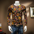 Autumn And Winter Fashion Male Good Quality Basic Thin Sweater Knitting Sweaters Men Slim Casual Chinese Dragon Printing Clothes
