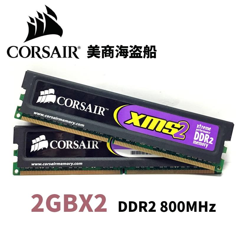 CORSAIR 2 GB X2 4 GB DDR2 PC2 6400 8500 1066 MHz 800 MHz 800 MHz PC Memoria RAM Memoria módulo RAM de escritorio del Ordenador 2G X2 4G