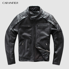 CARANFIER Genuine Leather Jacket Mens Brand Motorcycle Multifunction Men Liner Detachable Jackets 4XL DHL Free Shipping