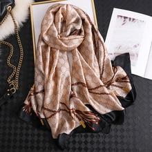 2019 luxury brand women scarf summer silk scarves shawls lad