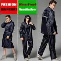 raincoat poncho women men waterproof Trench Coat Rain coat Pants Set outdoor Split Rain Suit chubasqueros