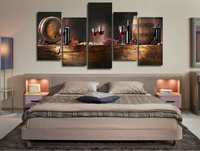 Panel HD Printed Canvas Print Painting Casks Wine Home Decoration Wall Pictures For Living Room Wall