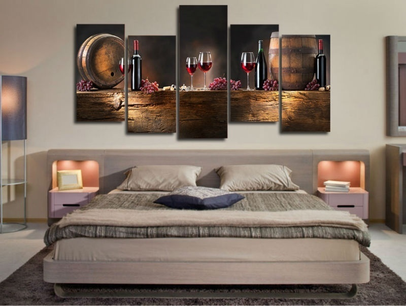 Panel HD Printed Canvas Print Painting Casks Wine Home Decoration Wall Pictures For Living Room