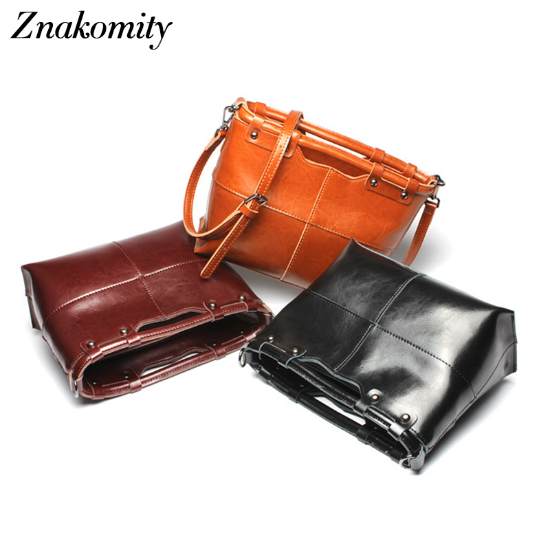 Znakomity Brown women handbag genuine leather bags for women Real cow leather shoulder clutch bag female crossbody bag for women znakomity new shoulder bag real women s genuine leather handbag wine red fashion brown black tote bag top handle hand bags women