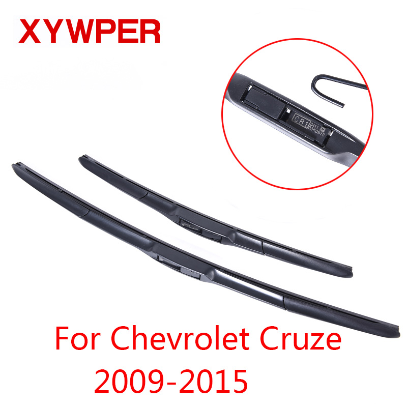 XYWPER Wiper Blades for Chevrolet Cruze 2009 2010 2011 2012 2013 2014 2015 Car Accessories Soft Rubber Windscreen wipers wiper blades for vw golf 7 fit push button arms 2012 2013 2014 2015 2016 26 18 windscreen windshield silicone rubber car wiper