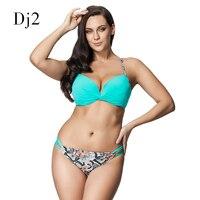Sexy Woman Bikini Push Up 2016 Brazilian Low Waist Swimwear Women Print Bottoms Bathing Suit Hollow