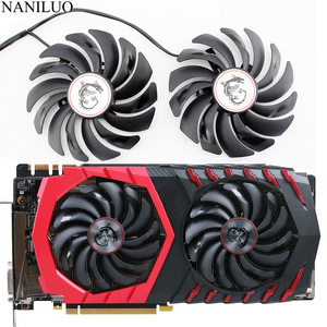 2PCS PLD10010S12HH DC12V 0.40A 4PIN FOR MSI RX470 480 570 580 GTX1080Ti 1080 1070 1060 GAMING Graphics Card Cooler Fan PLD10010S(China)