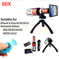 2017 50x metal lentes zoom telefoto telescópio para samsung galaxy s3 s4 S5 S6 S7 borda nota 2 3 4 5 Lente Da Câmera Do Bluetooth controle