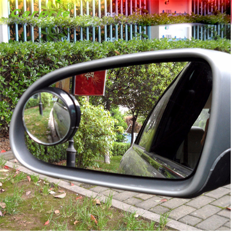 2x Car Blind Spot Mirror Rearview 2 Side Wide Angle Round Convex Black