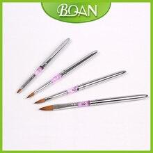 Free Shipping 5PCS Metal Acrylic Handle Cheap Acrylic Nail Brush Sets