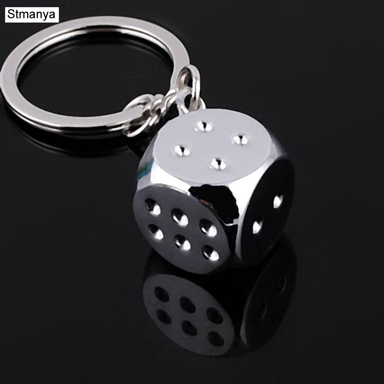 New Creative Key Chain Metal Personality Dice Poker Soccer Brazil Slippers Model Alloy Keychain For Car Key Ring #17045 high grade metal creative car key chain