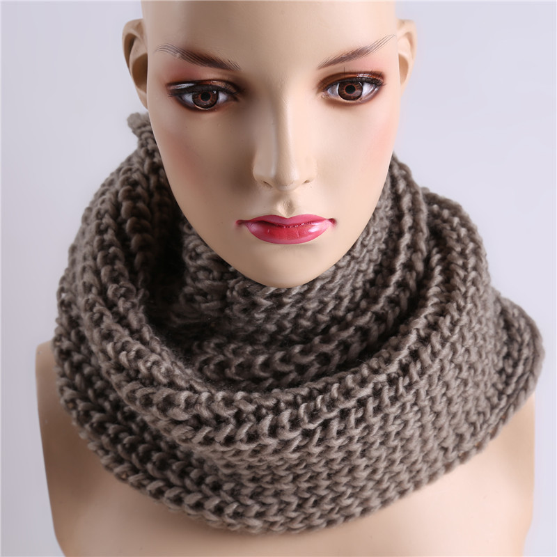 Winter Women Infinity Scarf Casual Warm Knitting Soft Ring