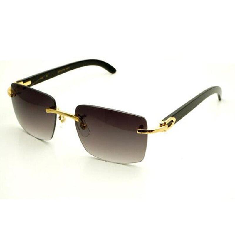 Praça Mulheres Óculos de marca de grife Óculos De Sol Dos Homens Carter 012 Chifre de Búfalo Óculos Sem Aro Dos Homens Óculos Óculos De Sol dos homens Do Vintage