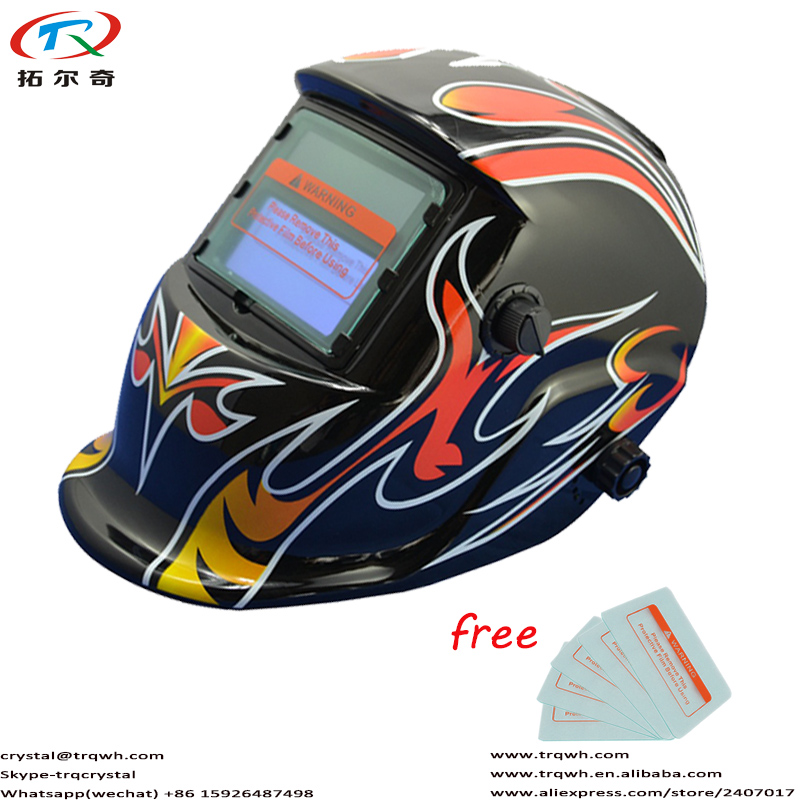 Full Black Face Eyes Protection Chameleon Glass Mask DIN9-13 Adjustable Welding Helmet/Electric Mask/Tig Mig Arc TRQ-HD05-2200DEFull Black Face Eyes Protection Chameleon Glass Mask DIN9-13 Adjustable Welding Helmet/Electric Mask/Tig Mig Arc TRQ-HD05-2200DE