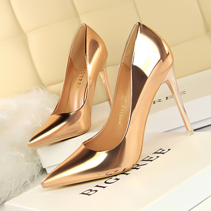 2018 Summer autumn Women Shoes Pointed Toe Pumps Dress Shoes High Heels Boat Shoes Wedding Shoes tenis feminino sapato in Women 39 s Pumps from Shoes