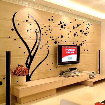 Online Shop 3D Acrylic Family Tree Wall Stickers Living Room Wall ...