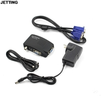 Portable BNC To VGA Video Converter Composite S Video Input To PC VGA Out Adapter Digital