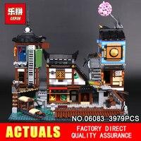 Лепин 06083 3979 шт. здание серии 70657 город доки комплект строительные блоки кирпичи New Kids Игрушки коллекционные игрушки подарок модель
