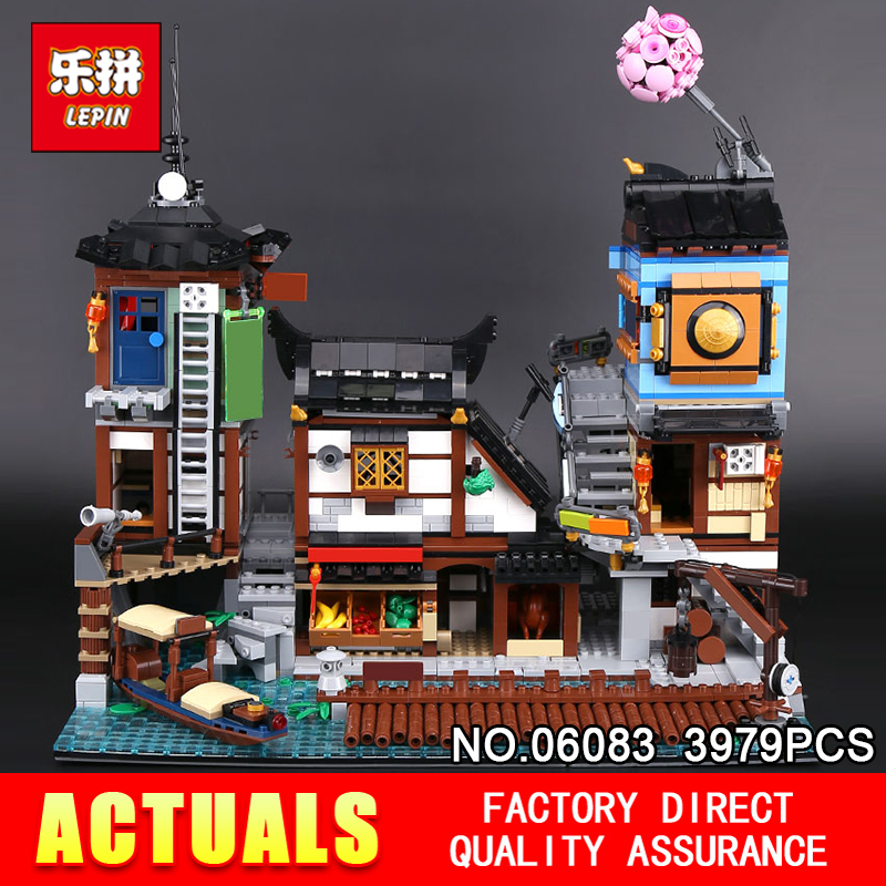 Lepin 06083 3979Pcs Building Series The 70657 City Docks Set Buidling Blocks Bricks New Kids Toys Collectable Toys Gift Model new 1628pcs lepin 07055 genuine series batman movie arkham asylum building blocks bricks toys with 70912 puzzele gift for kids