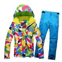 Women Ski Suit Waterproof Snowboard Jacket Women Winter Snow Skiing Jackets Trousers Pants Outdoor Sport Warm Snow Jacket WS066